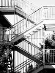 Zig Zagging Metal Staircase