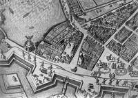Map of Hamburg showing its first Opera House