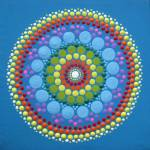 Blue Rainbow Mandala Prints & Posters