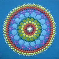 Blue Rainbow Mandala