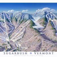 """Sugarbush Vermont"" by jamesniehuesmaps"