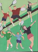 Copy of tennis people on the court