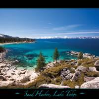 Sand Harbor, Lake Tahoe on Black Art Prints & Posters by Mark E Loper