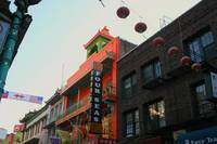 Colorful building Chinatown