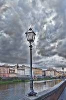 Lamp Post in Florence Italy with Storm Clouds