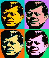 John F Kennedy - Pop Art Poster Print