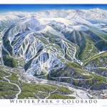 """Winter Park Colorado"" by jamesniehuesmaps"