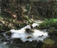 Big Sur River stream