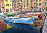 Colorful Boats near Lake Garda, Italy