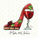 Cocktail Shoes Wine Posters