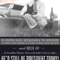 long live FDR, beer, dogs and progressive values! by r christopher vest