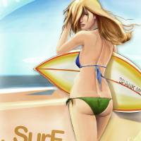 Surf Habbit Art Prints & Posters by Amiram Zocowitzky