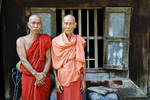 Two Burmese monks Posters