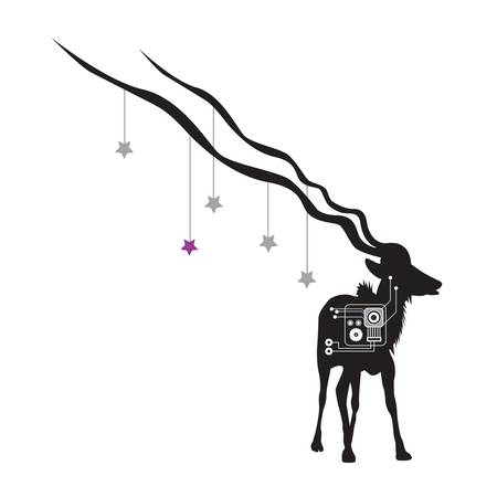 GAZELLE WITH STARS