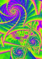 Dingleberries Psychadelic Fractal Art