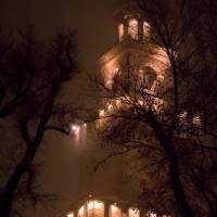 A foggy night in the Castle Art Prints & Posters by Manuel Mazzei