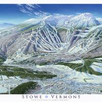 """Stowe Trail Map Image"" by jamesniehuesmaps"