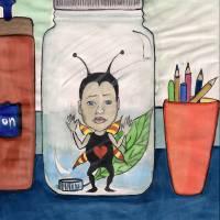 bug in a jar Art Prints & Posters by Rebecka Goodman