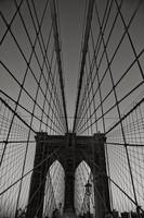 BROOKLYN BRIDGE VERTICAL B&W