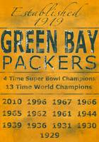 Green Bay Packers Yellow Banner