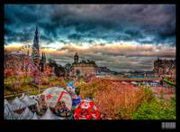 Princes Street, Edinburgh, HDR