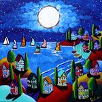 Colorful Night Sail