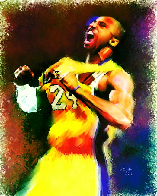 timeless design f922e 1af29 Kobe Bryant, Los Angeles Lakers, NBA   24 by Edward Vela (2012)