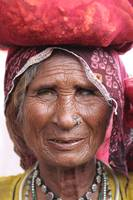 Old woman in Pushkar