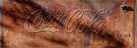 Rusty Coca Cola Cooler Front