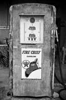 Vintage Gas Pump: Black and White Photography