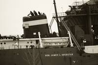 Stack and Lifeboat of the SS Hon. James L.Oberstar