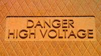 Danger High Voltage Manhole Cover Sign