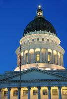 Utah Capitol Building Rotunda at Sunset
