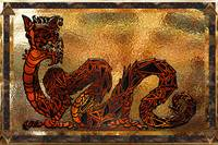 Gold Foil Asian Dragon