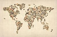 Cats Map of the World Map