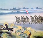 Japanese invasion of Guam (w/c on paper) by Ezaki Posters
