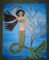 Mermaid floating