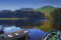 Boats on Loganlea Reservoir - Acrylic