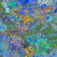 Daisy Fantaisy ~ Distracted Abstract Art Prints & Posters by Suzanne Pinnington