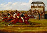 West Australian winning the Derby in 1853, c.1853