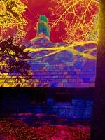 Planting Fields Outbuilding in False Color