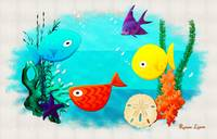 Whimsey Aquarium Aquatic Cartoon
