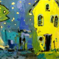 STARFISH AND YELLOW HOUSE Art Prints & Posters by Brian Simons