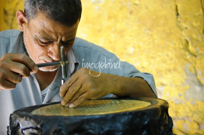 Focus of an Egyptian craftsman