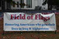 Field of Flags sign