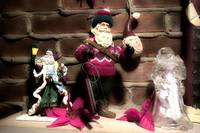 Santa Clauses on Mantle