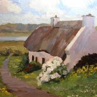 """Thatched Roof Cottage, Ireland"" by RKSteed"