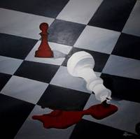Painting - Chess/Checkmate