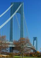 Verrazano Narrows Bridge in fall.