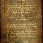 """PrintsTecumseh Poem Act of Valor Movie"" by WaynePhotoGuy"